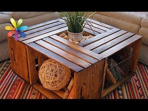 Дизайнерский стол из деревянных ящиков – Все буде добре. Выпуск 875 от 07.09.16 - YouTube