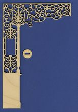 Dollhouse Room Dividers Ornate Victorian Dollhouse Half Wall II Dollhouse Parts and Accessories By Laser Cut Crafts Dollhouse Kit LCC-RD-002