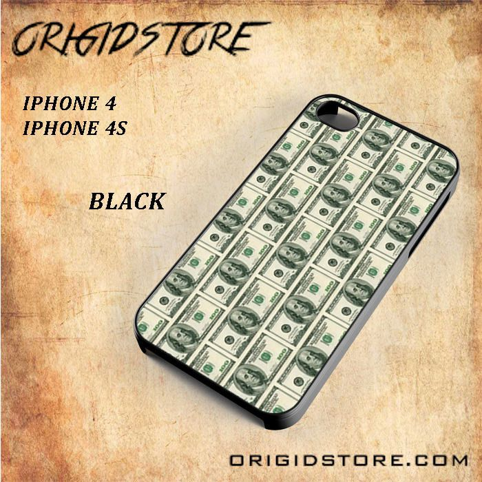 One Hundred Dollars Money Snap On Black White 3D For Iphone 4/4S Case