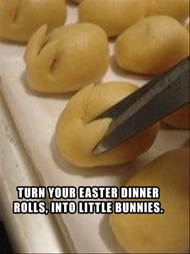 a make easter bunny rolls for easter dinner