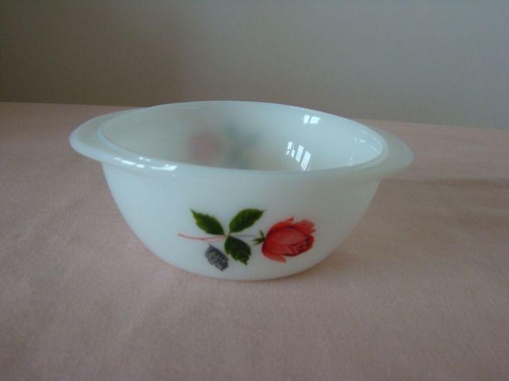 JAJ June Rose mini pyrex casserole dish/sugar bowl/butter dish/condiments dish