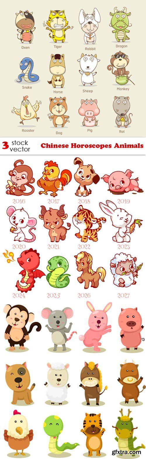 Vectors - Chinese Horoscopes Animals