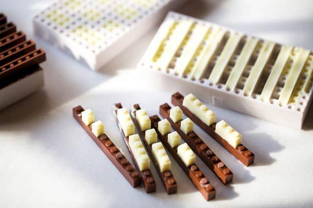A designer creates edible chocolate LEGO bricks!