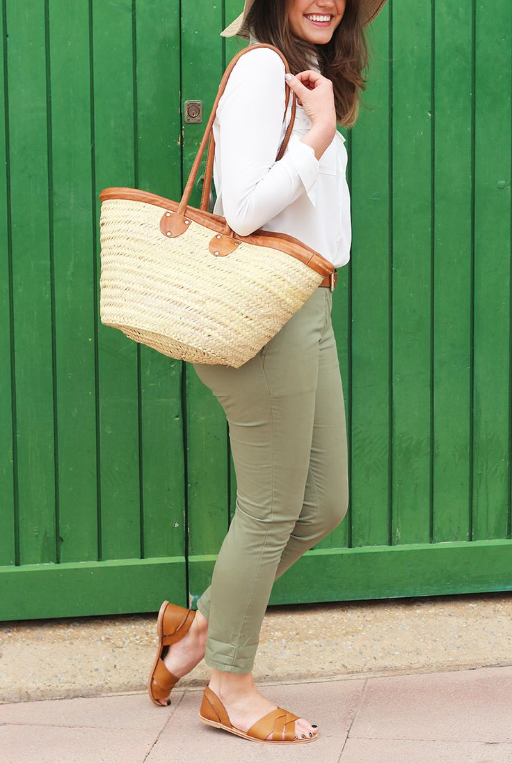 Khaki Trousers + White Silk Shirt Outfit | Monica Beatrice Welburn in Crew Clothing | The Elgin Avenue Blog