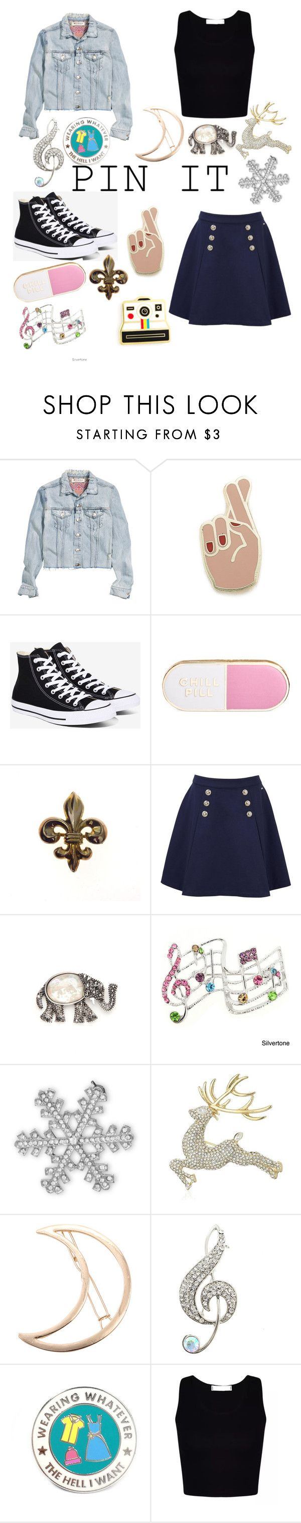"""""""Pin It"""" by brooklyn-bowden ❤ liked on Polyvore featuring H&M, Georgia Perry, Converse, ban.do, Polaroid, Tommy Hilfiger, Kim Rogers, BillyTheTree, Anne Klein and Chicnova Fashion"""