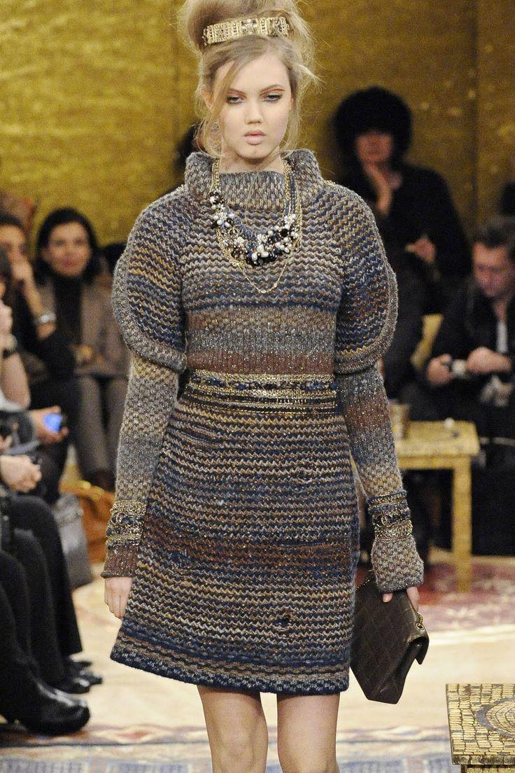 СТИЛЬНОЕ ВЯЗАНИЕ: Chanel. Осень-зима 2011-2012. Вязаные модели из коллекции Карла Лагерфельда