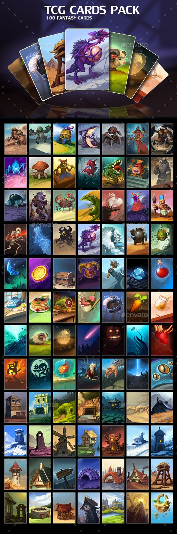 TCG Cards Pack (Miscellaneous)