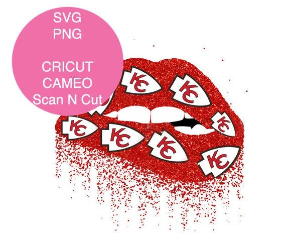 Kansas City Chiefs Lips Lips Biting Svg Glitter Lips Dripping