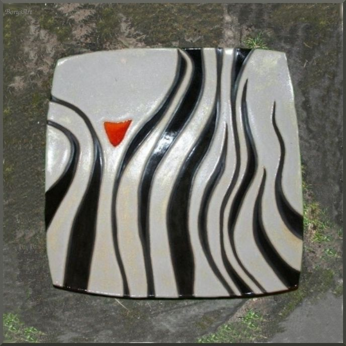 ceramiczna patera, majolika Danuta Rożnowska-Borys BorysArt