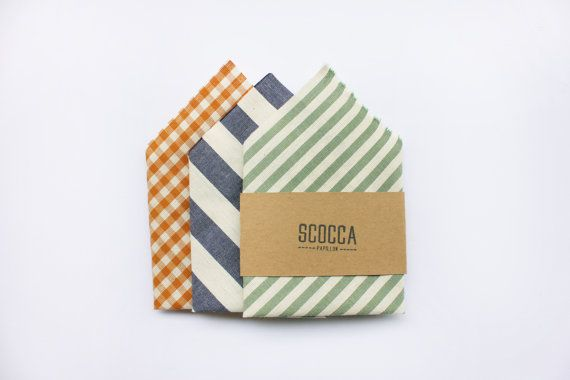 Pocket handkerchief,pocket square,sage green,blue and white striped,mustard yellow,red coral,accessories wedding,groomsmen groom witnesses