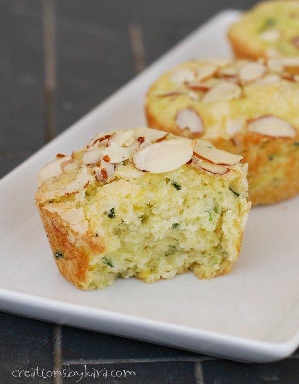 Lemon Lime Zucchini Muffins ~ Creations by Kara