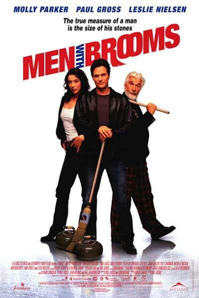 """Men With Brooms - Paul Gross 2002 - DVD07456 -- """"Reunited by the last wishes of their recently deceased coach, 4 not-quite-together guys set out to win the local Superbowl of curling. Under the guidance of their befuddled new coach, the intrepid teammates fight their way to the big championship showdown."""""""