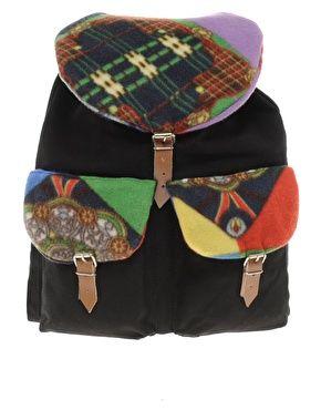 Reclaimed Vintage Backpack with Aztek Print