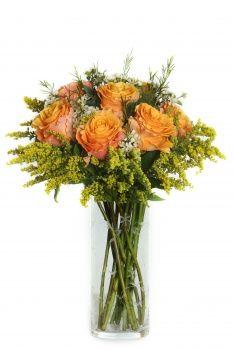 Ruža Oranžové ruže s ozdobou