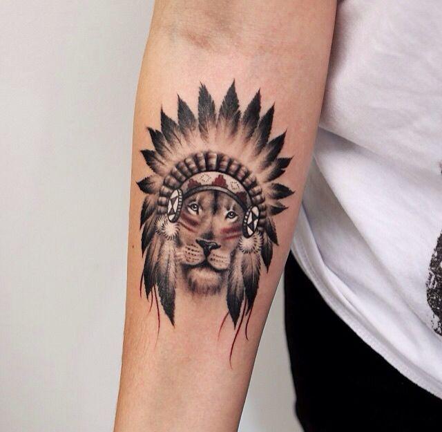 Lion Native Tattoo