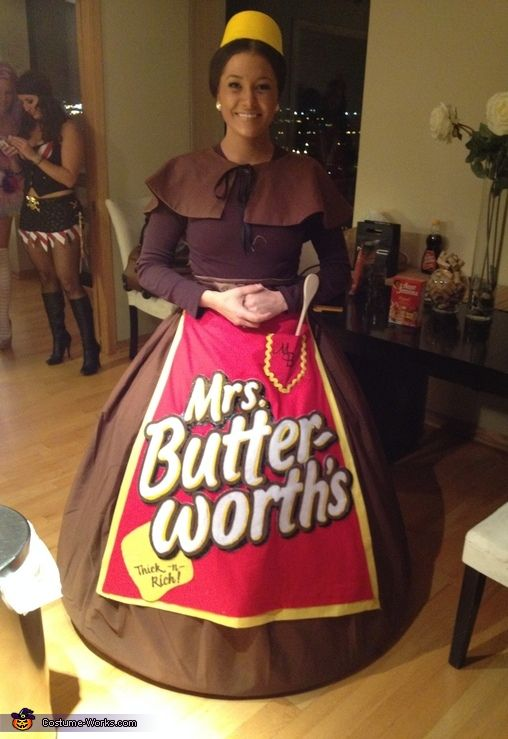 Mrs. Butterworth - DIY Halloween Costume Idea (Thank goodness she didn't try to make it a SEXY Mrs. Butterworth outfit!  LOL!)