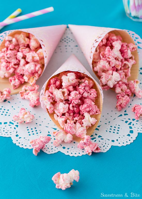 Fruity Party Popcorn ~ With Natural Fruit Flavour and No Artificial Colouring!
