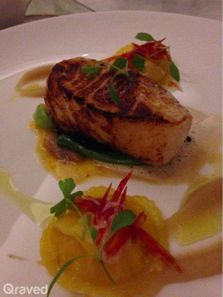 Pan Seared French Line Caught Sea Bass Fillet at Chateau Blanc