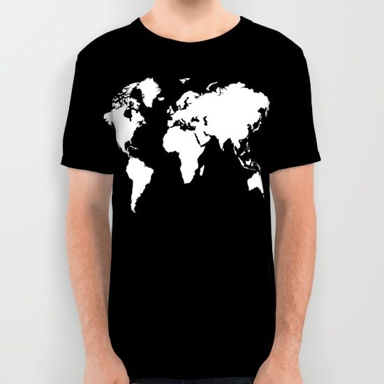 Buy Black white world map All Over Print Shirt by haroulita. Worldwide shipping available at Society6.com. Just one of millions of high quality products available.