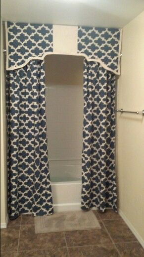 Shower curtains with valance!