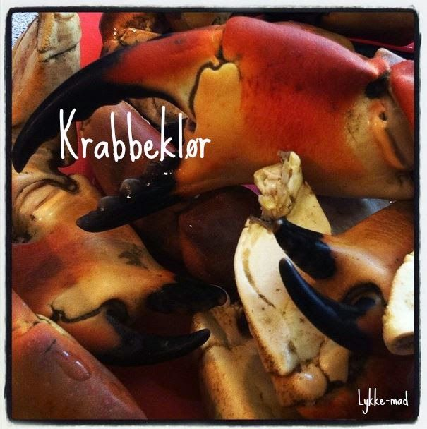 Krabbeklør med safranmayo og dildkartofler