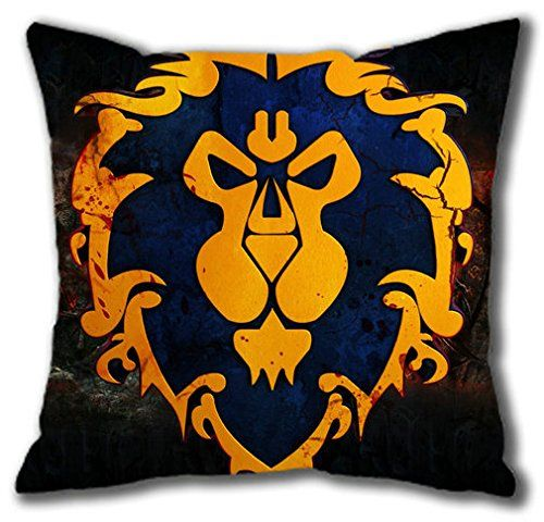 Throw Pillow Protective Covers : Games World of Warcraft WOW Alliance Theme Throw Pillow Covers 16