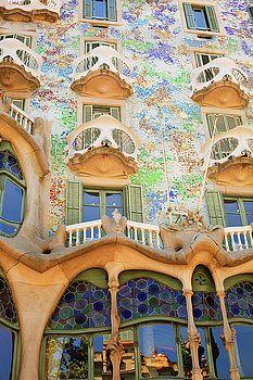 The exterior of the Casa Batllo by Vadim Goodwill#VadimGoodwillFineArt #Architecture #Artforhome #Casabatllio