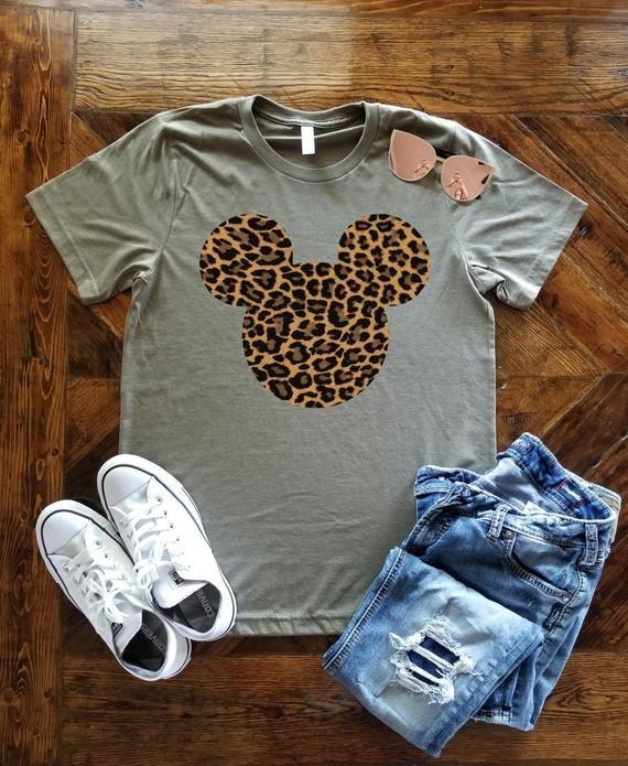 3c786c6c Leopard Print Mickey Mouse T-Shirt / Disney Vacation Shirt / Family Disney  Shirt / Safari Mickey / T