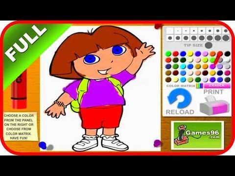 Dora La Exploradora Juegos en línea - Episodio Coloreando a Dora Juego -...