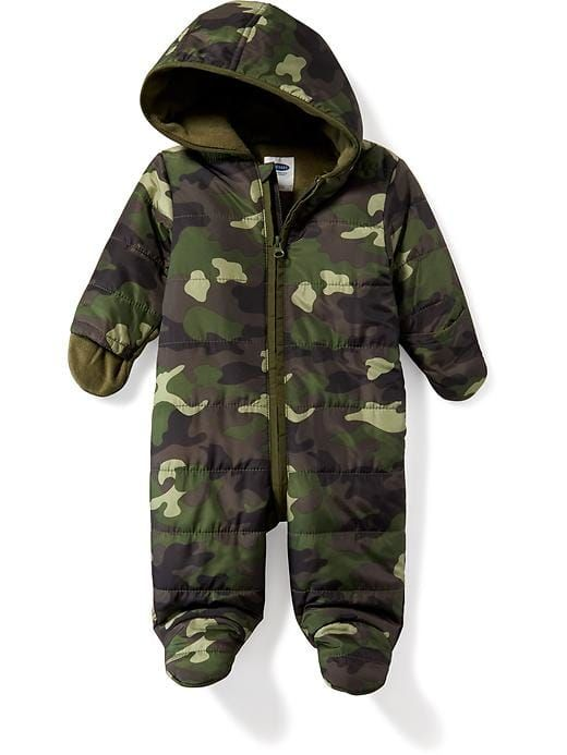 bc82b05f0 Snowsuit for Baby | This adorable camo hooded snow suit for babies is part  of the
