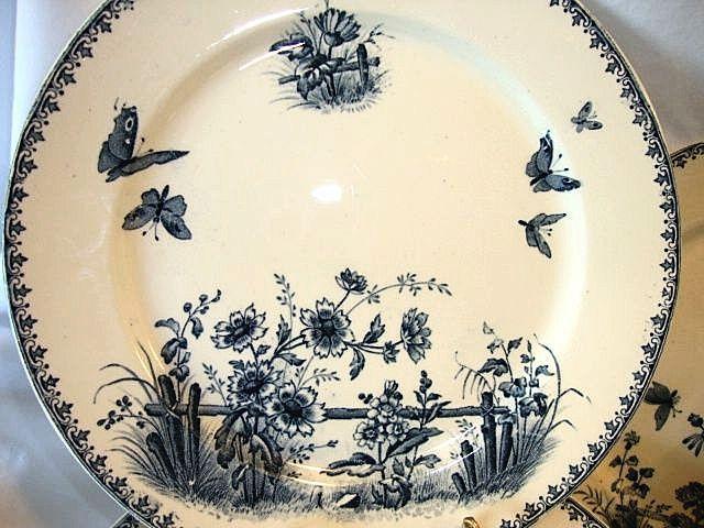243 best vaisselle anciennes de sarreguemines et d 39 ailleurs images on pinterest antique dishes. Black Bedroom Furniture Sets. Home Design Ideas