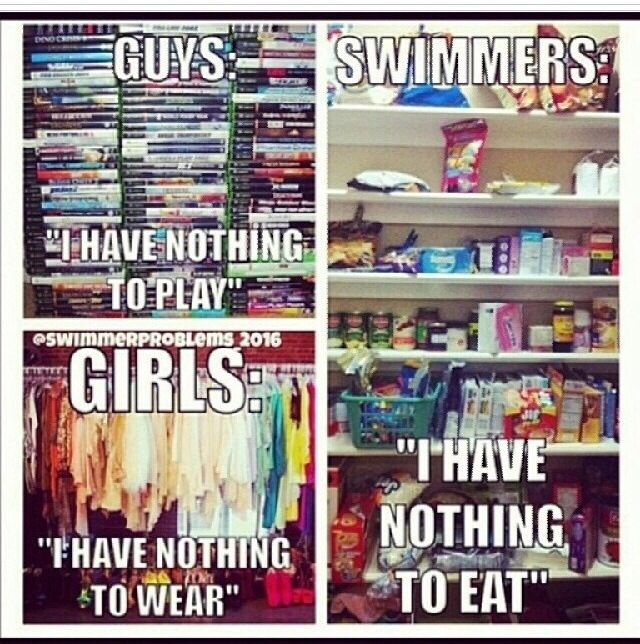 Well we all know the swimmer part is true...