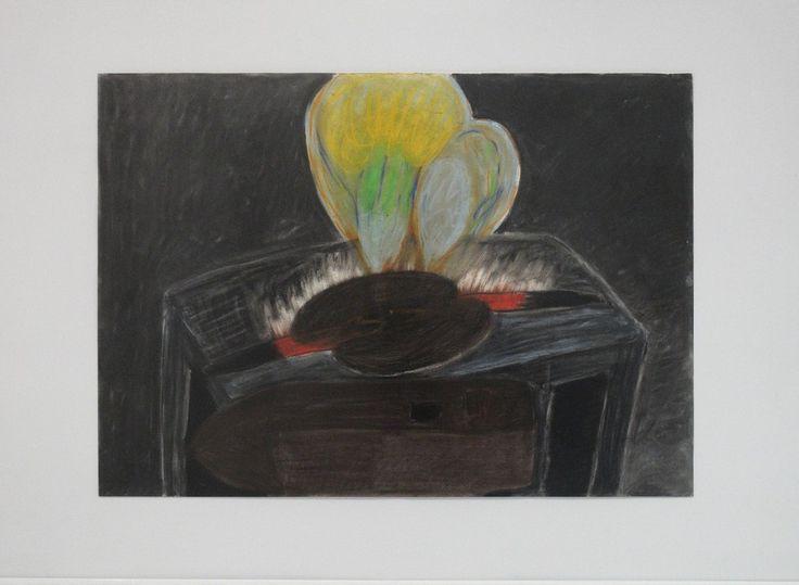 Tomáš Lampar, 1d_Výheň (nahřívání čepele), 2012, pastel, papír 49,5 x 69,5 cm