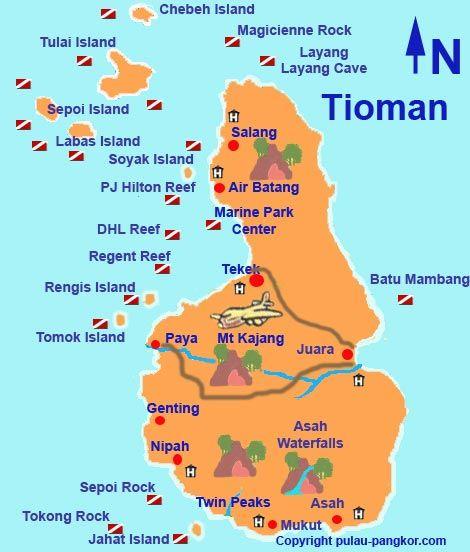 Peninsular Malaysia: Tioman Island Dive Sites.