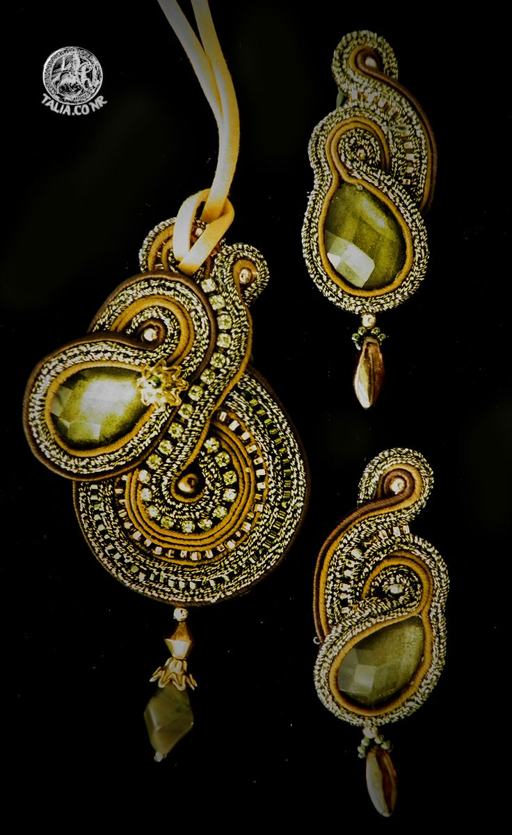 Green soutache set