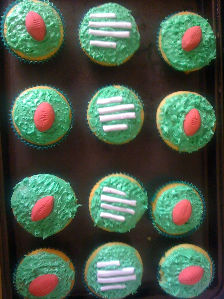 Add some AFL footy decorations to your favourite cupcake recipe