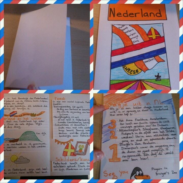 Brochure over Nederland (kan ook over een provincie of een ander land) How to make