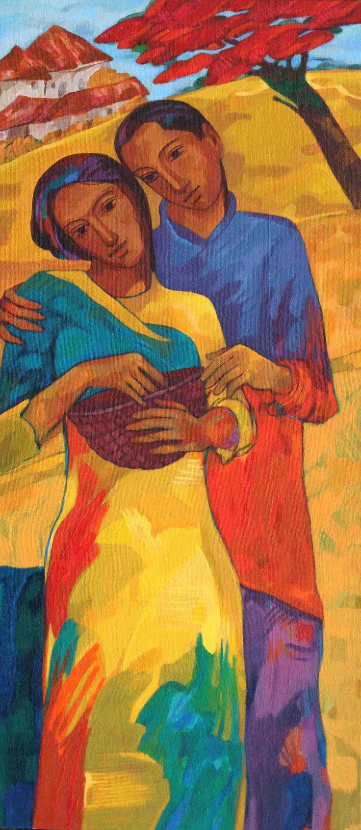 Avinash Mokashe Todayu0027s Harvest Acrylic on Canvas Paintings Eikowa