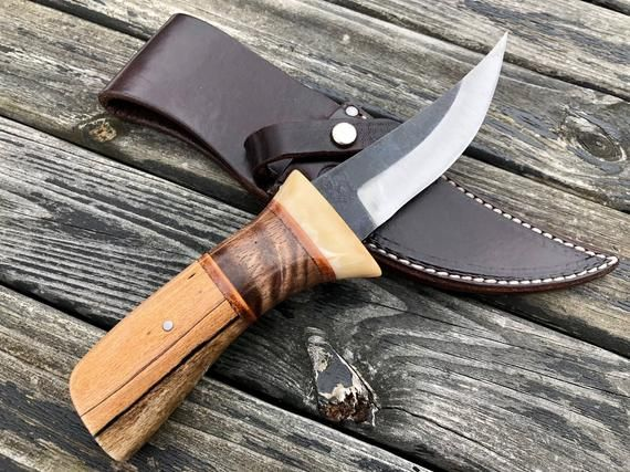 Hunting Camp Utility Knife W High Carbon Steel 1095 Blade Etsy Knife Karambit Knife Karambit