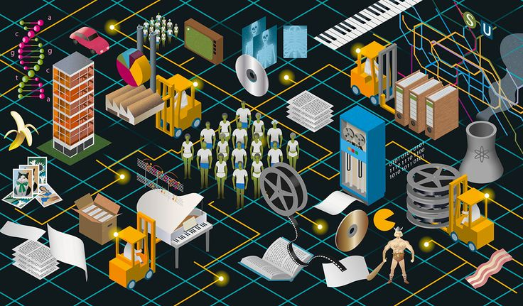 Illustration for Siemens and their Urban DNA magazine. Commissioned by Medien-Design in München. The Illustration is about how to processing big data.
