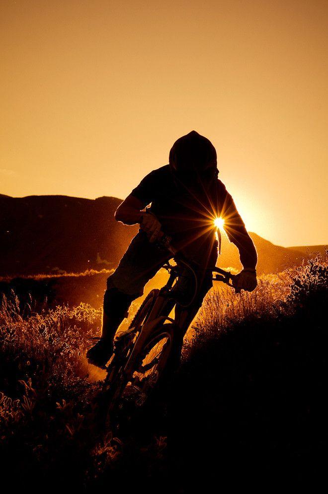 ♂ sunset mountain bike Photo: Vegard Breie #bike #bicycle #sunset
