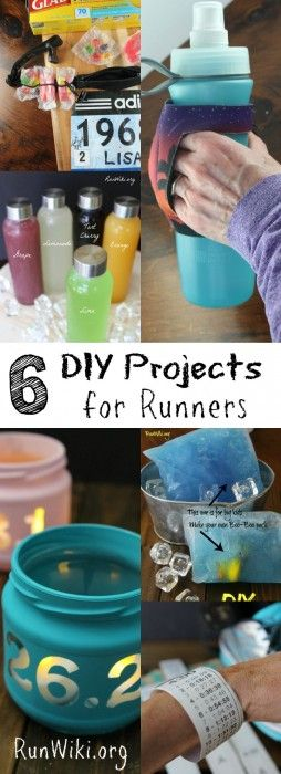 6 DIY Projects for Runners- training for a half marathon, 5k, 10k, or marathon? Here are 6 homemade projects you wont want to miss during your 12 weeks. Running motivation   fitness   quotes   inspiration  beginners