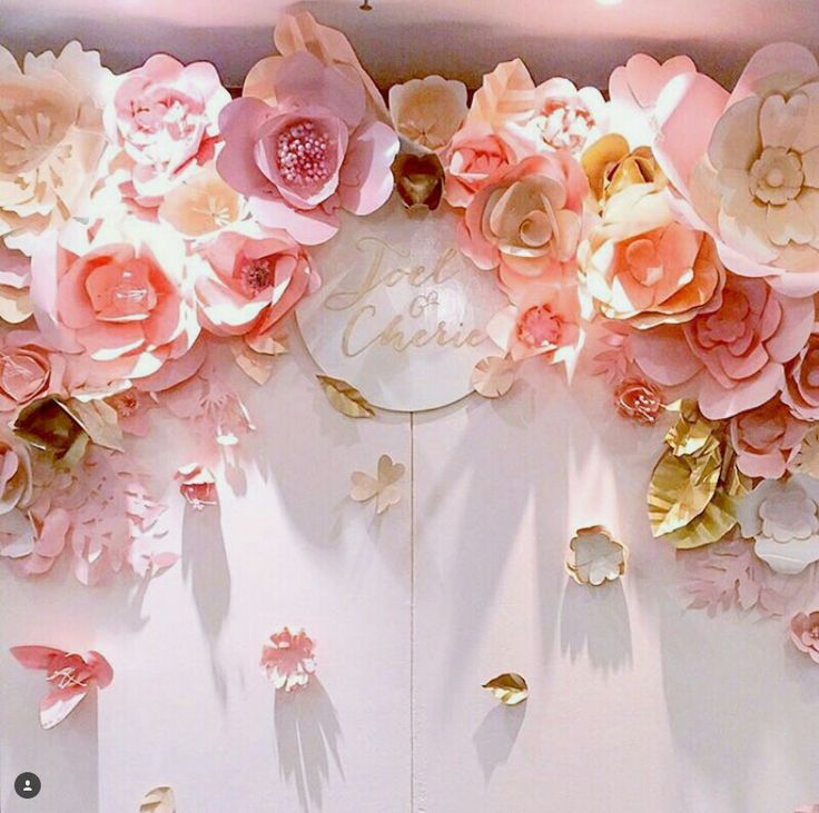 143 best craft ideas images on pinterest letter fonts paper paper flowers backdrop mightylinksfo