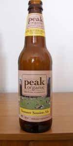 5.0% ABV. great wheat mix with pale ale. Citrus flavor. really light and good.  Peak Organic Summer Session Ale - Peak Organic Brewing Company - Portland, ME - BeerAdvocate