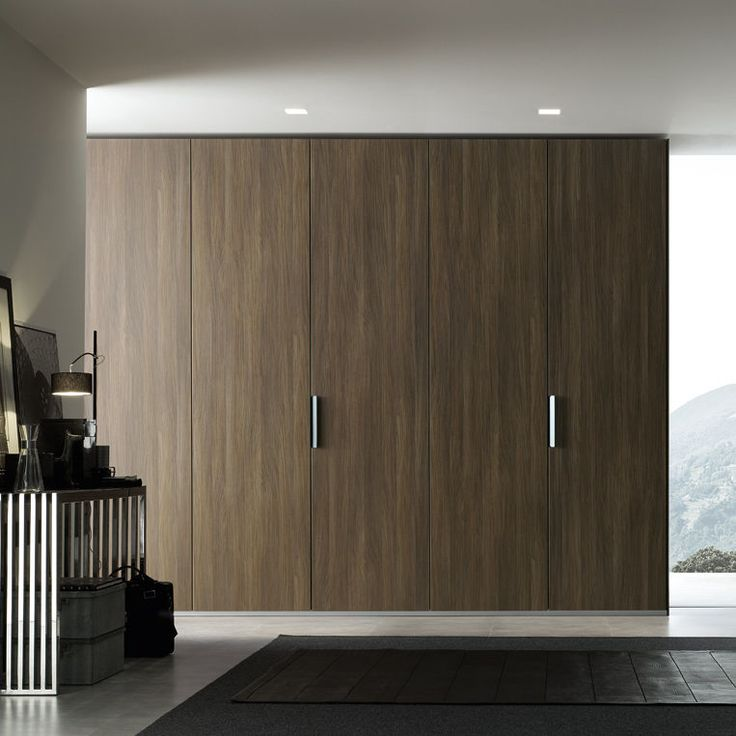 Armoire de chambre contemporaine / en mélaminé / à porte battante / avec porte coulissante SAND  Poliform