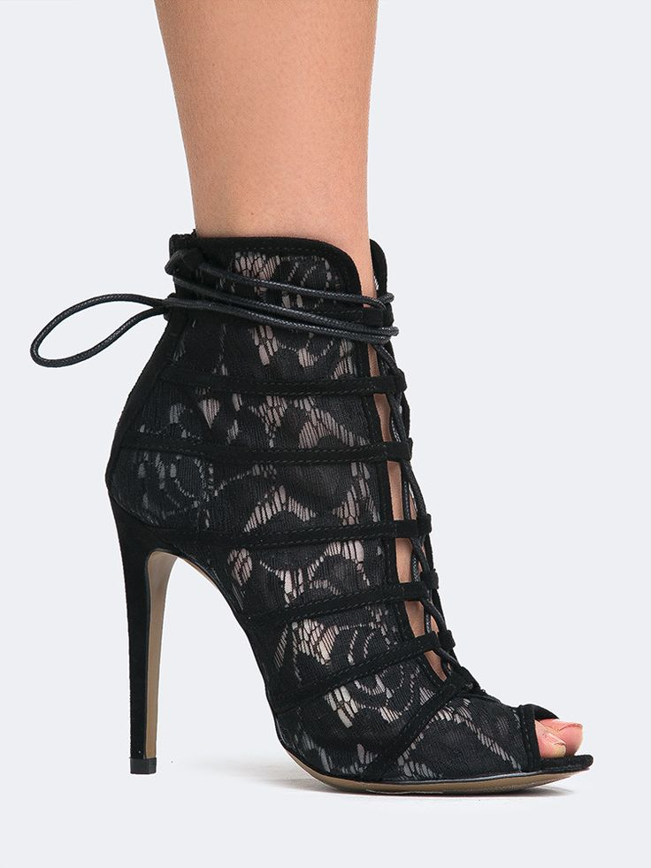 Jingle Lace High Heel Bootie - ZOOSHOO
