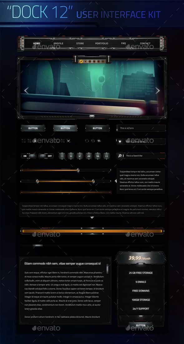 user interface templates