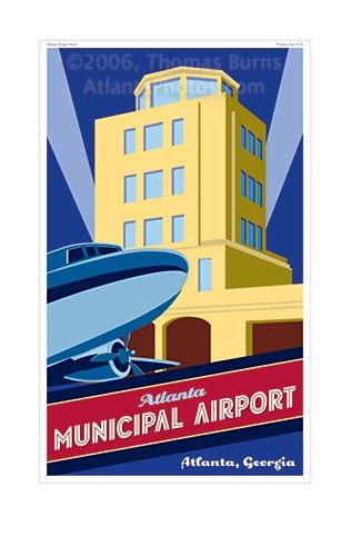 17 best images about atlanta giclee prints on pinterest for Best airport lounge program