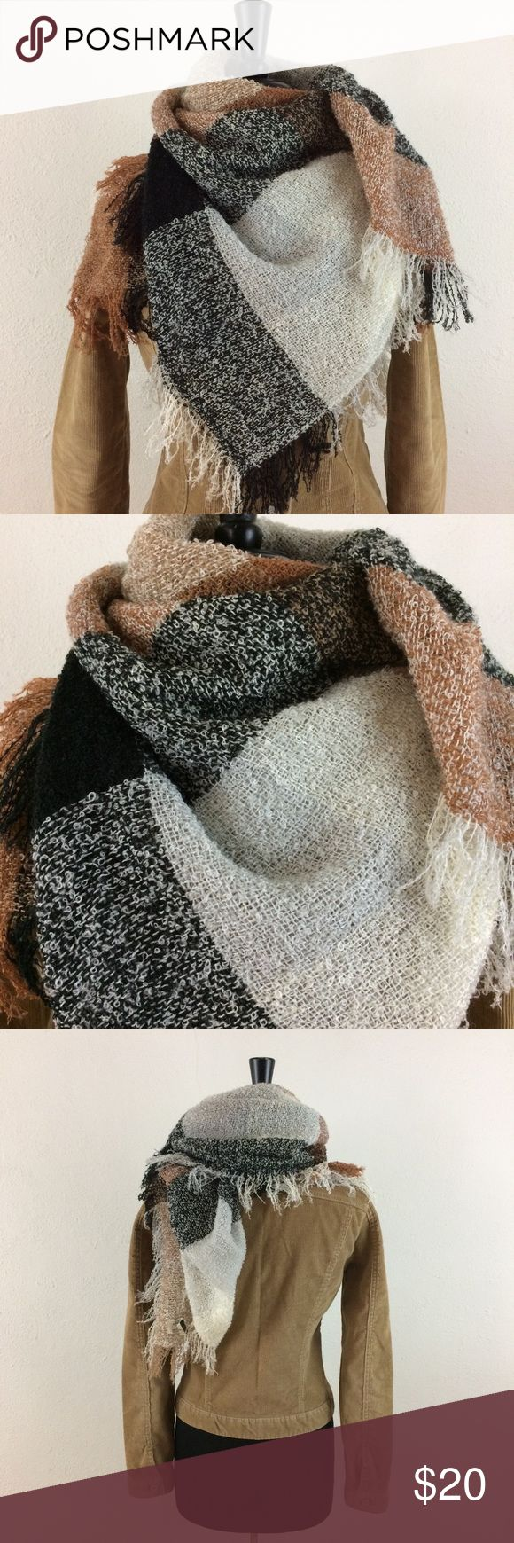 "🔥SALE!🔥 Vintage Baar and Beards Scarf SALE! $8 OFF Ends 1/31/18. Acrylic fiber, 38""x38"" square. Like new. Baar and Beards Accessories Scarves & Wraps"