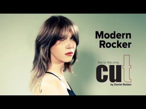 Modern Rocker Haircut Tutorial | Daniel Roldan. Learn how to use dry cut scissors.